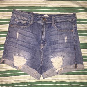 High waste short jeans